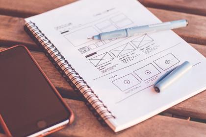 designen en ideeen verwerken website - Webdesign bureau Arnhem